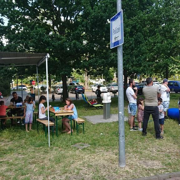 Hüpfburg und Aktionen zur Auftaktveranstaltung
