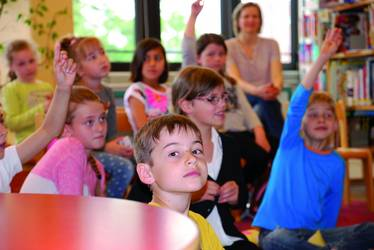 Eine Gruppe von Kindern
